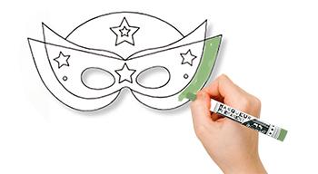 Colorier le masque de super héros