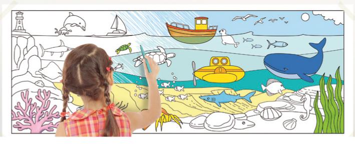 Colorier la fresque de la mer
