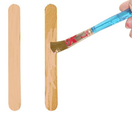 Peindre les bâtons