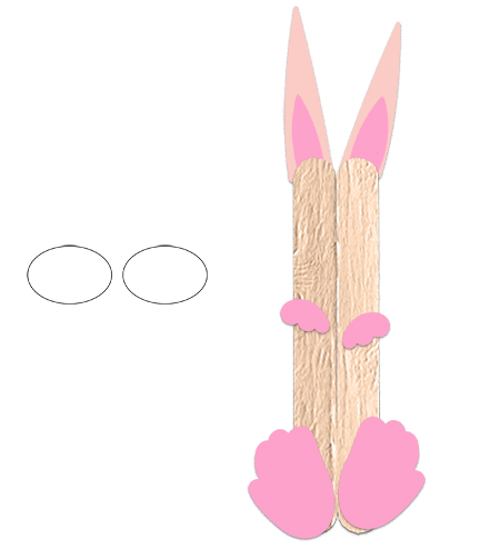 Dessiner 2 ovales pour la tête de lapin