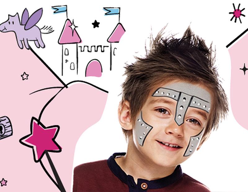 Maquillage de chevalier de conte de fées avec Snazaroo