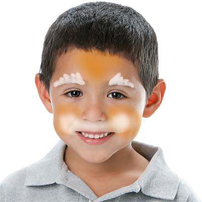 Dessiner 2 cercles blancs sous les joues