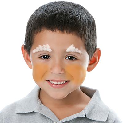 Etaler 2 cercles jaunes sur les joues