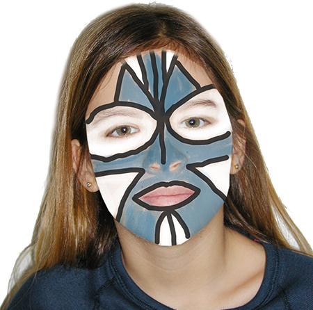 Ajouter le maquillage bleu