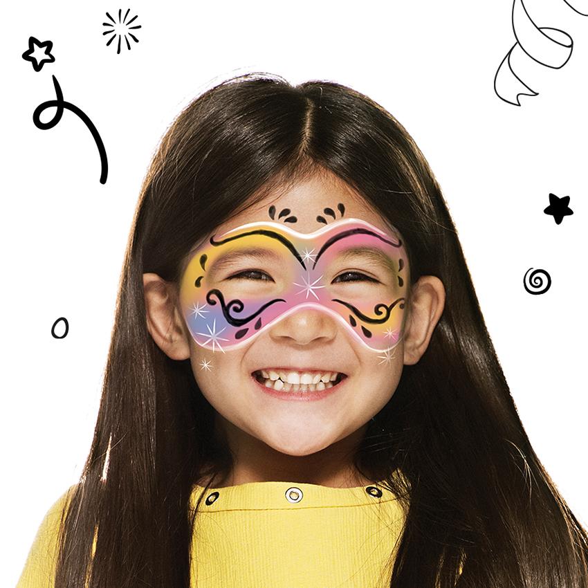 maquillage masque de carnaval avec snazaroo. Black Bedroom Furniture Sets. Home Design Ideas