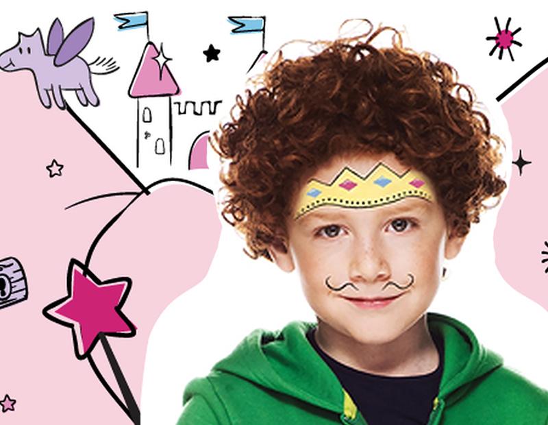 Maquillage de prince de conte de fées