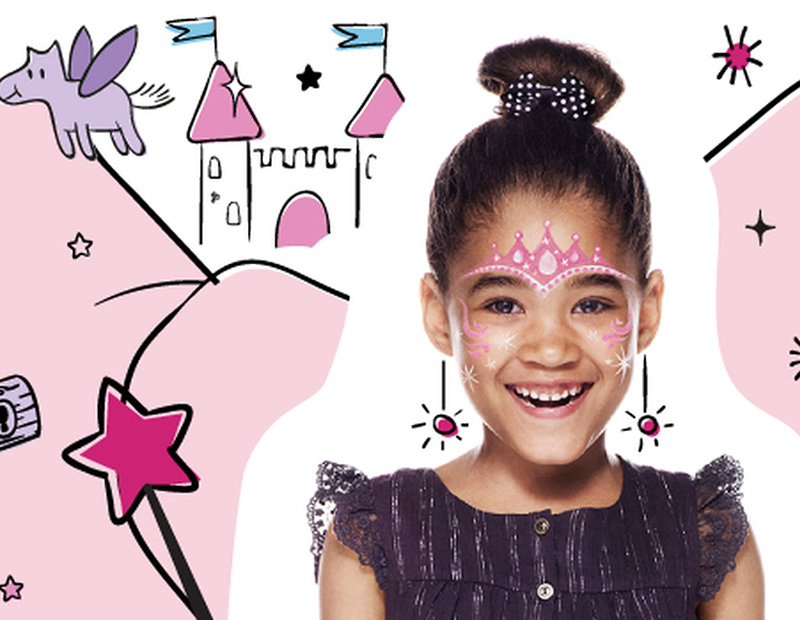 Maquillage de princesse de conte de fées avec Snazaroo