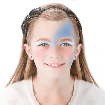 Dessiner un demi-coeur bleu