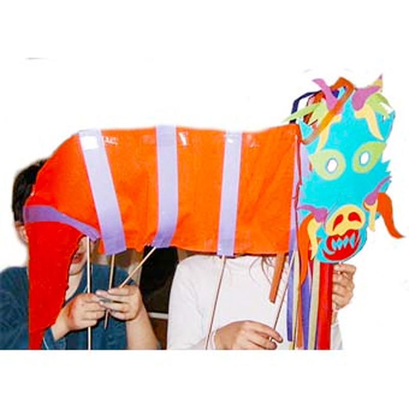Assez Grande marionnette dragon chinois - Tête à modeler IK45