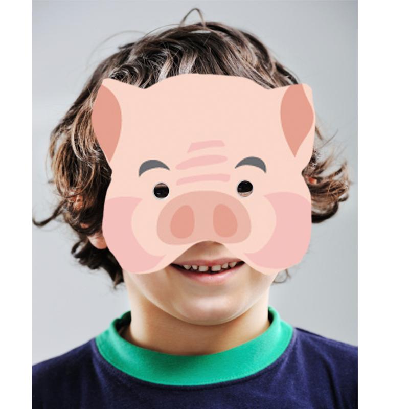Masque cochon à gommettes