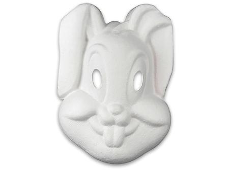Poser le masque de lapin à colorier sur la table
