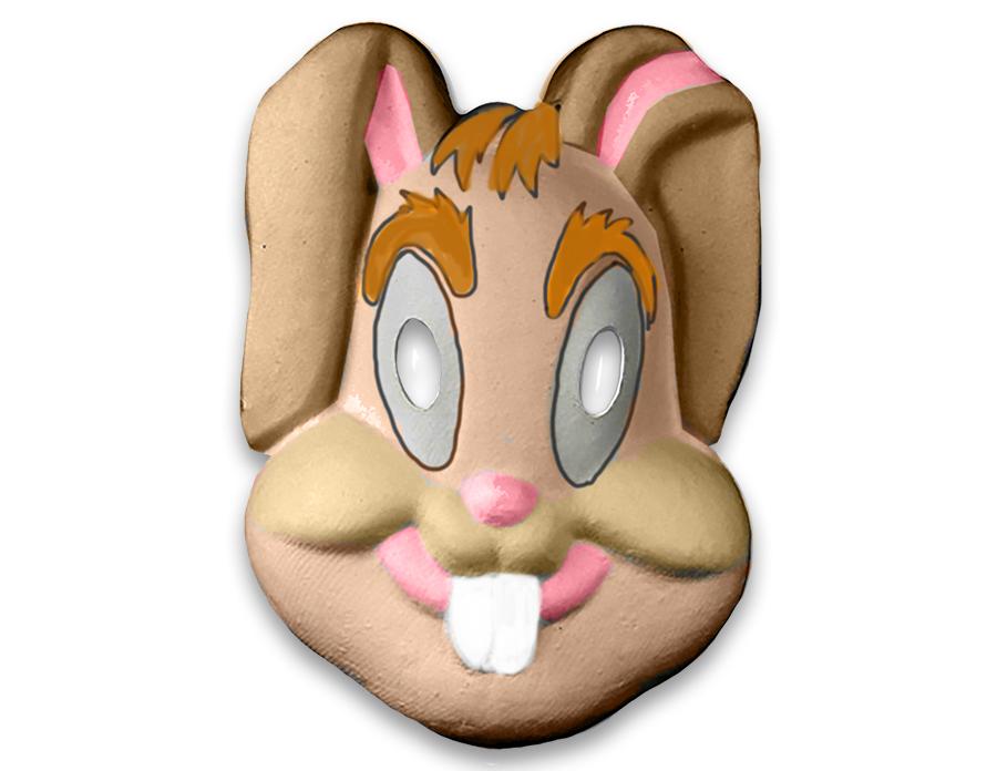 Coloriage d'un masque lapin