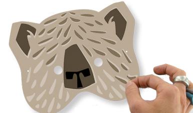 Décorer le masque ours