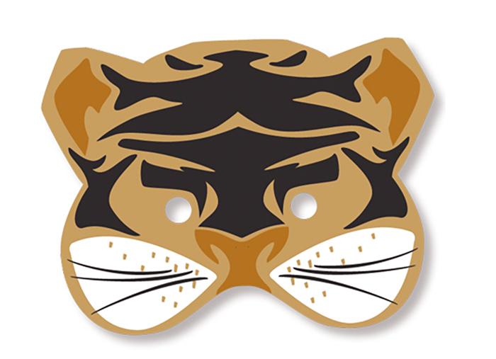Masque de tigre avec gommettes
