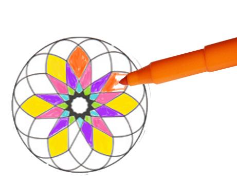 Coloriage des formes du mandala
