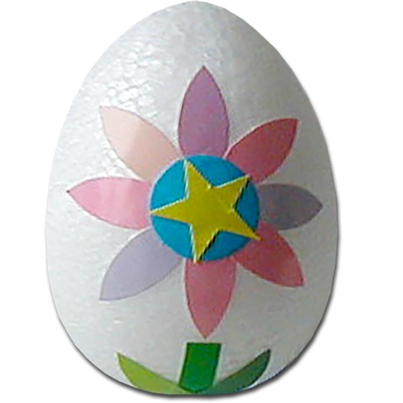 Oeuf de Pâques décoré de gommettes