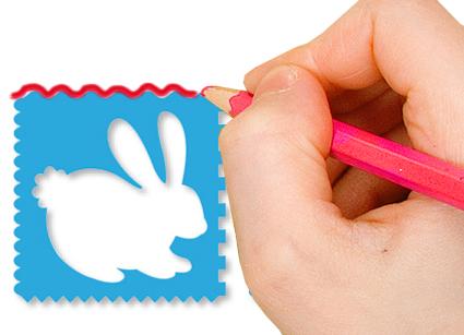 Utiliser le bord du pochoir pour dessiner