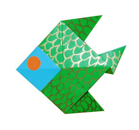 origami poisson poisson en pliage de papier origami t te modeler. Black Bedroom Furniture Sets. Home Design Ideas