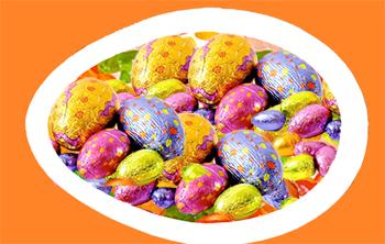 Garnir avec des oeufs de Pâques