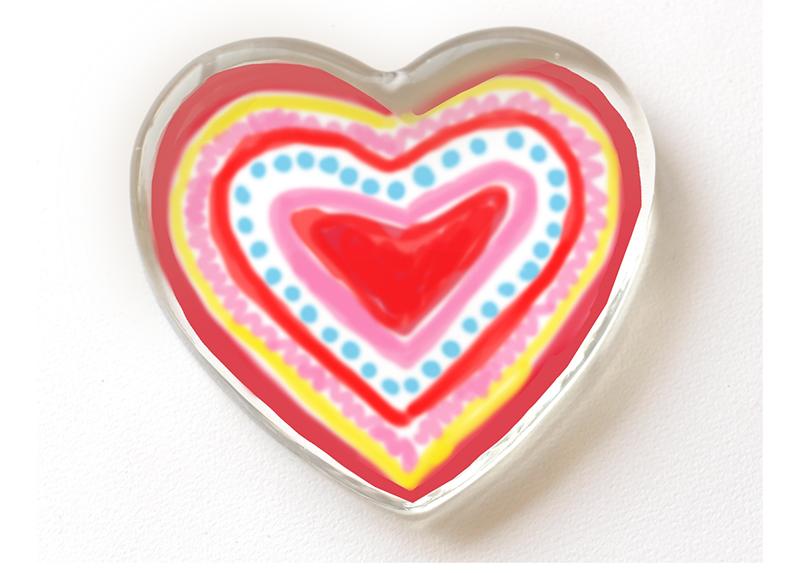 Presse papier personnalisé avec un coeur