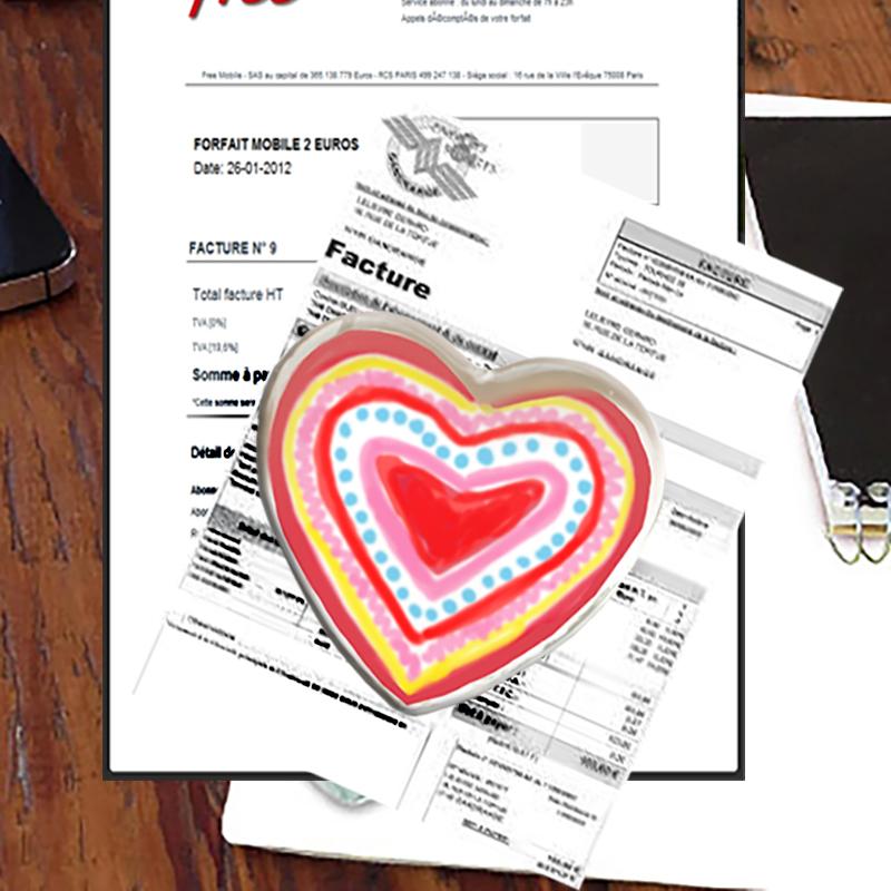 Presse papier gros cœur