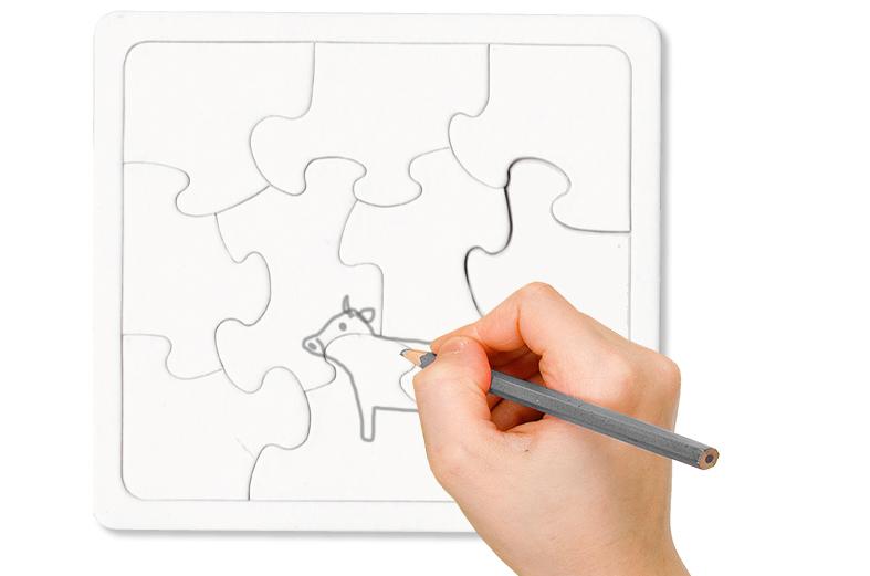 Dessiner sur le puzzle