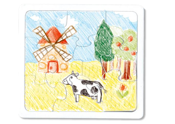 Coloriage puzzle 10 pièces
