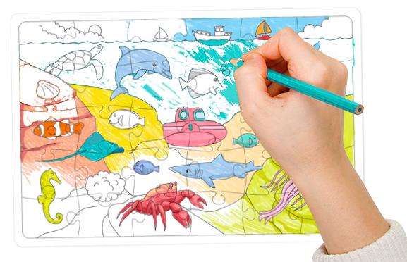 Colorier le puzzle de la mer