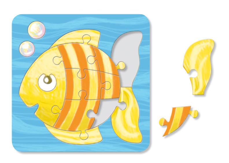 Coloriage puzzle poisson