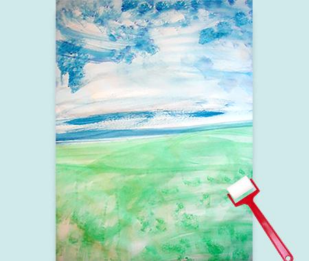 peindre fond du tableau de printemps
