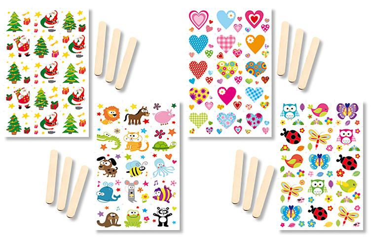 Transferts motifs variés pour décorer des objets