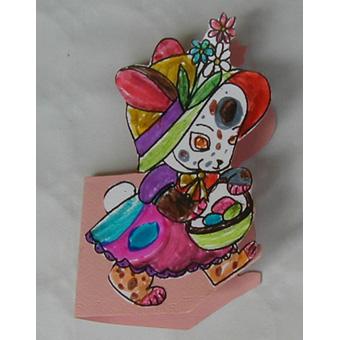 Carte de Pâques à colorier