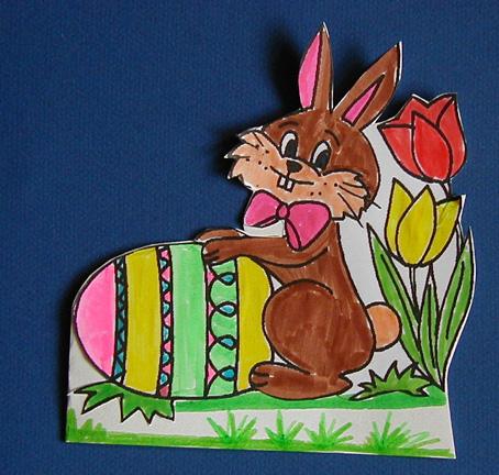 Carte Pâques avec coloriage