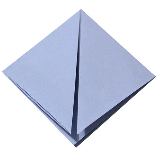 Pliage origami losange carr sur t te modeler - Plier une feuille en 3 ...