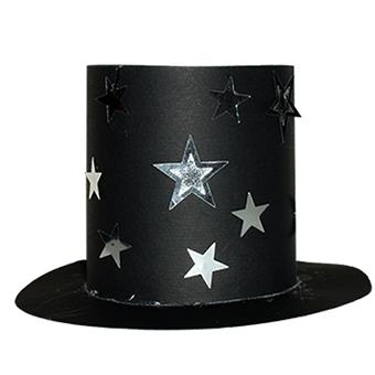 Chapeau De Magicien Aux étoiles Sur Tête à Modeler