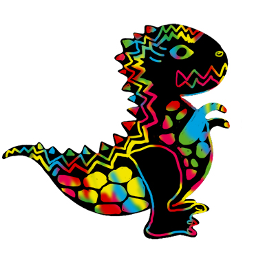 Petit dinosaure en carte à gratter