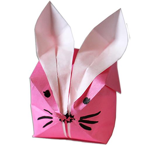 Lapin boule en origami