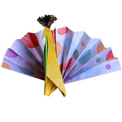 Paon en origami