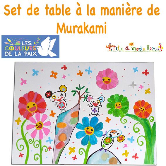 Set de table la mani re de murakami sur t te modeler for Set de table multicolore
