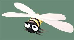 Coller les ailes de l'abeille