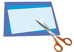 Découper et coller des rectangles de papier