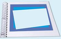 Coller les rectangles sur l'album photos