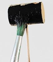 Peindre le bouchon en noir