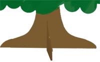 Glisser l'arbre sur le socle