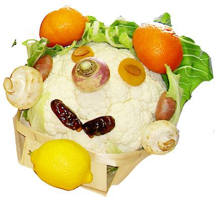 Légumes comme Arcimboldo - légumes d'Arcimboldo