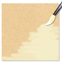 Peindre le carré de bois