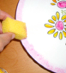 Peindre le bord de l'assiette