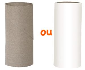 Rouleau en carton récupéré ou fabriqué