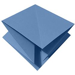Pli origami en losange 4 pointes libres