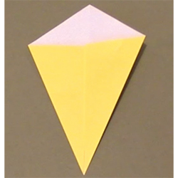 Pliage origami cerf-volant